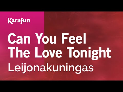 Karaoke Can You Feel The Love Tonight -  *
