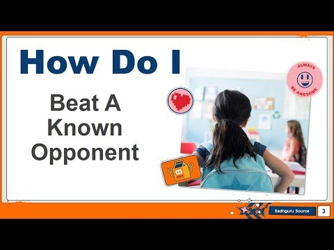How Do I Beat A Known Opponent