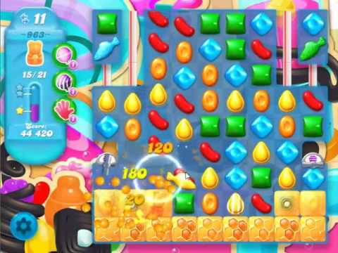 Candy Crush Soda Saga Level 963 - NO BOOSTERS