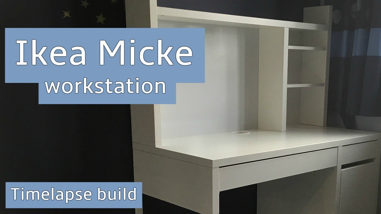 Micke desk white in office space t desk white