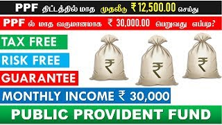 How to get monthly Income from PPF explained in Tamil PPF மாத வருமானமாக ₹ 30,000.00 பெறுவது எப்படி?