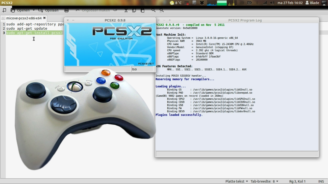 How to use an Xbox controller with PS2 emulator PCSX2!!