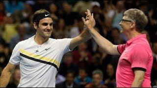 Roger Federer/Bill Gates vs Sock/Guthrie in the 2018 Match for Africa 5 (Highlights)