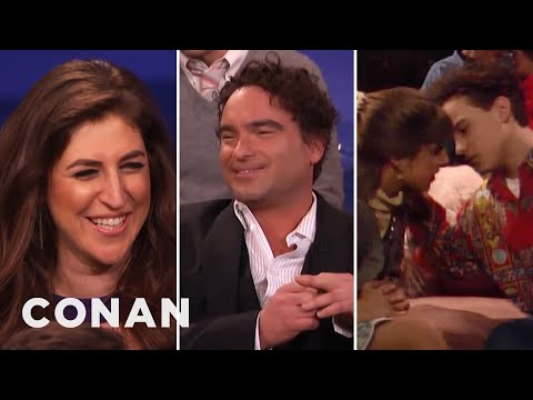 Thumbnail: Mayim Bialik & Johnny Galecki Remember Their Teenage Kiss - CONAN on TBS