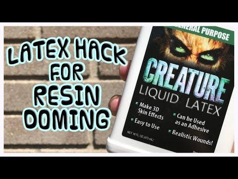 RESIN HACK   Latex Hack For Doming Resin