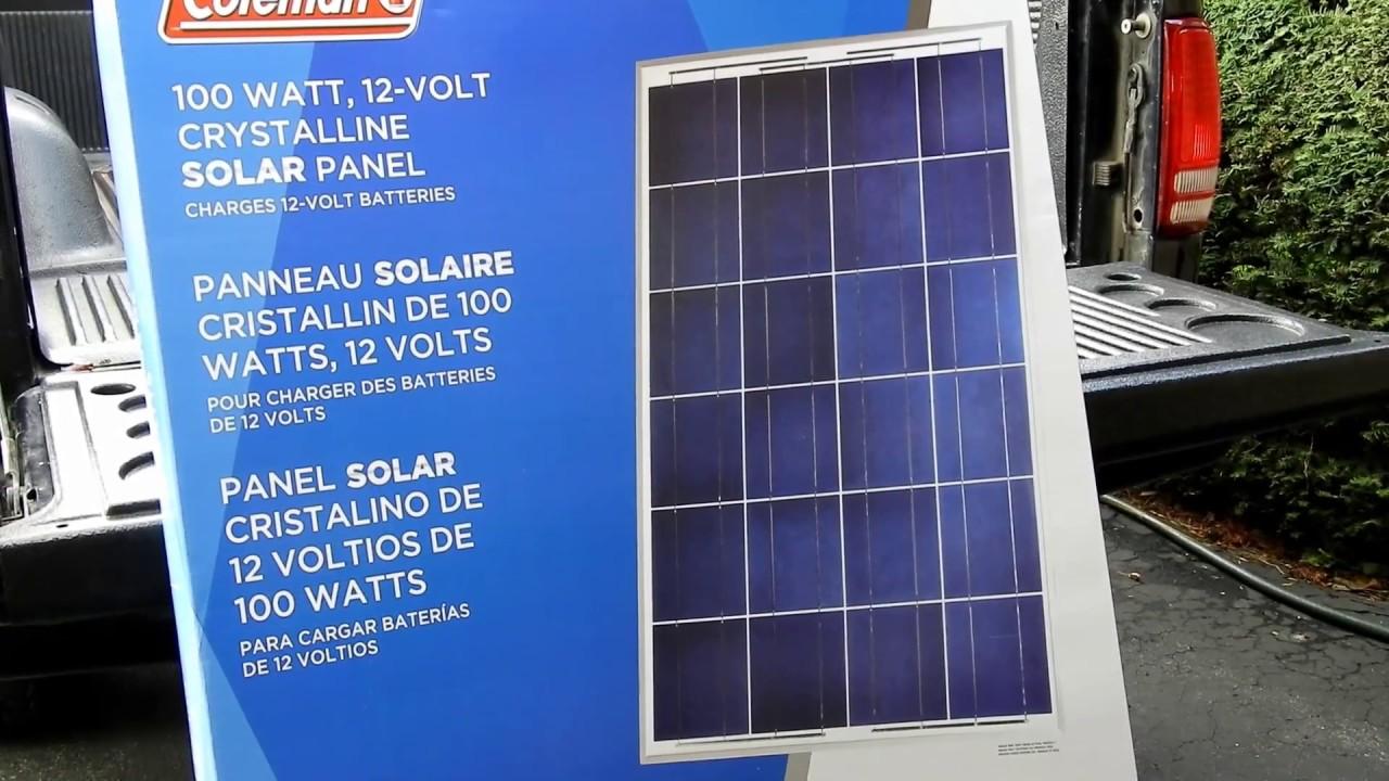 Coleman Solar 100watt Vs 40watt Plus Controllers Youtube