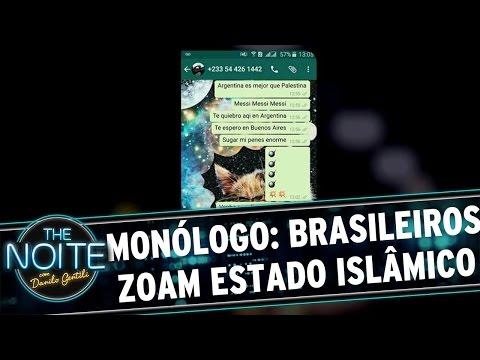 The Noite (27/04/16) - Monólogo: Brasileiros mandam Whatsapp para Estado Islâmico