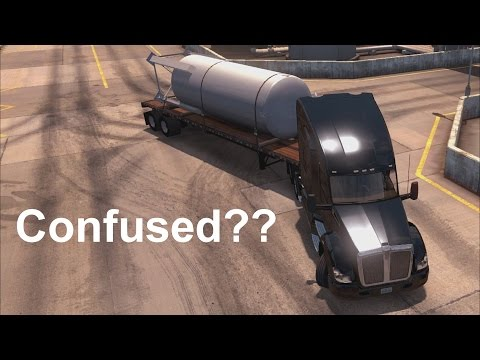 American Truck Simulator - How to back up a Trailer