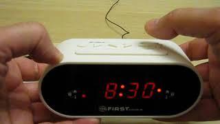 Налаштування радиочасов FIRST FA-2406-5.