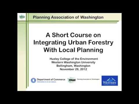 A Short Course on Integrating Urban Forestry with Local Planning