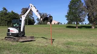 Vibratory Post Driver for Mini Excavators   Blue Diamond Attachments