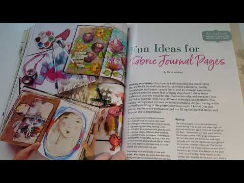Cloth Paper Scissors Jan/Feb 2018 magazine flip thru