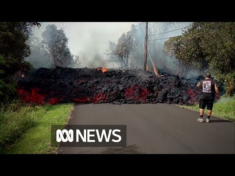 Hawaiian lava flows 'faster than a turtle'