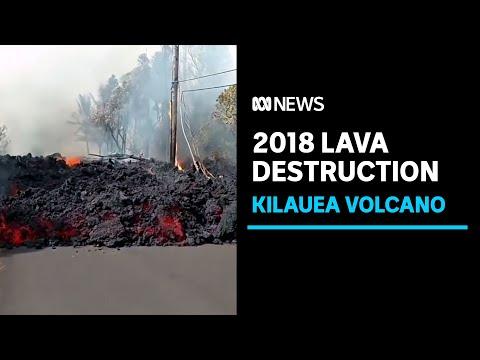 Hawaiian lava flows 'faster than a turtle' | ABC News