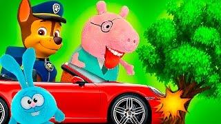 Щенячий Патруль Мультик с игрушками и Свинка пеппа на русском все серии подряд 2016 смотреть