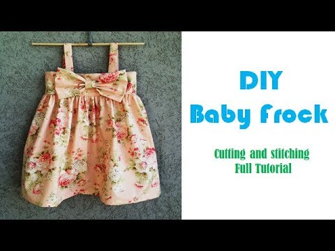 0e2eda5bb DIY Designer Baby Frock Cutting And Stitching Tutorial - YouTube