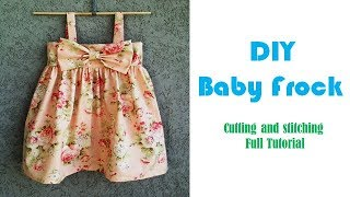 DIY Designer Baby Frock Cutting And Stitching Tutorial