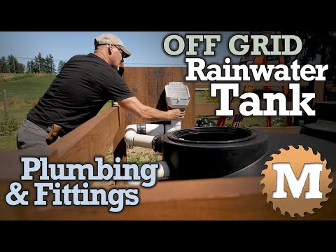 OFF GRID Rainwater Harvesting Tank - plumbing, fittings, float, valves