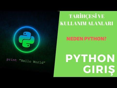 Python Nedir? | Neden Python? | Python Kısa Tarihçesi Ve Kullanım Alanları