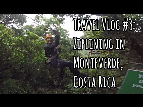 ZIPLINING THROUGH THE CANOPIES OF MONTEVERDE! 100% AVENTURA | Costa Rica Travel Vlog