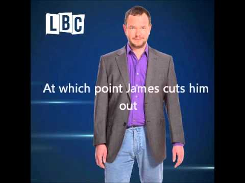 Bigots at LBC, media bias, lies about Israel. James O'Brien show on BDS