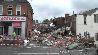 ENG Video Narborough Road Leicester Explosion
