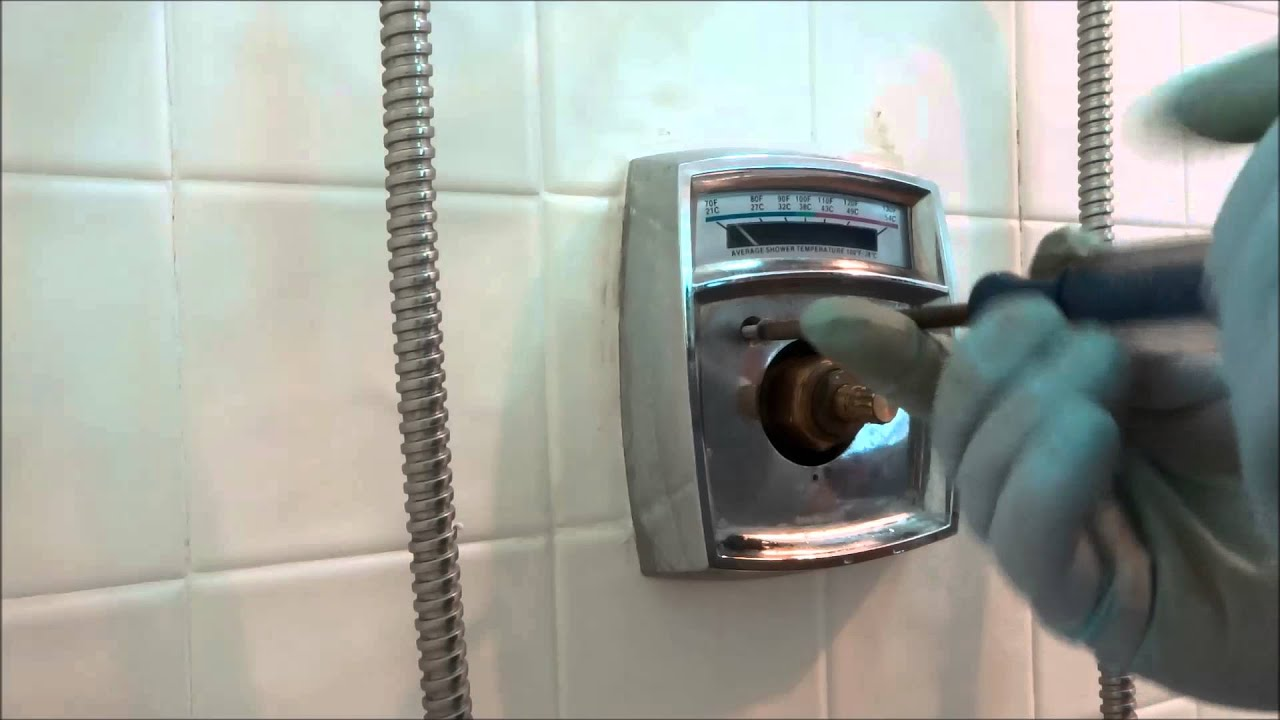 symmons tub shower valve no hot water C5 spindles - YouTube