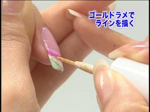 Advance Japan Nail Art Lesson Part 2 - YouTube