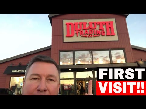 DULUTH TRADING COMPANY STORE VISIT- REVIEW VLOG