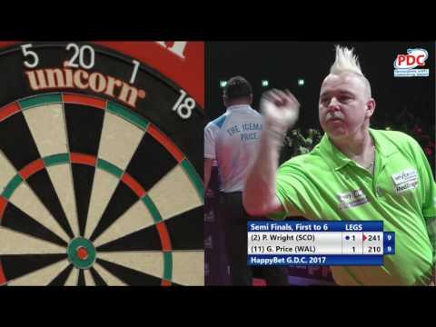 Peter Wright v Gerwyn Price - Semi-Finals - HappyBet German Darts Championship 2017 - ET1