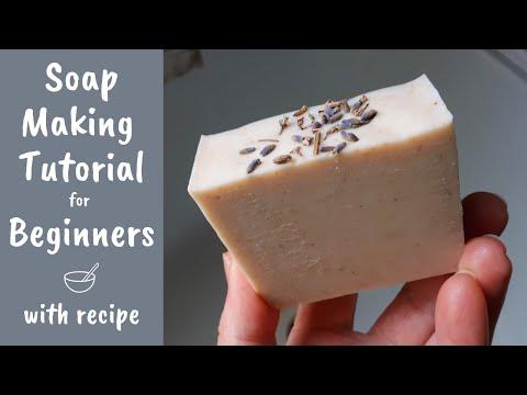 Soap Making Tutorial For Beginners | Full Demonstration & Cold Process Soap Beginner Recipe