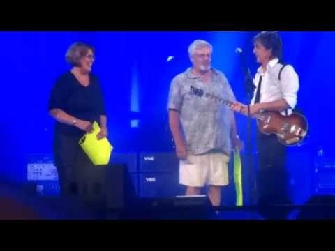 Paul McCartney, Times Union Center, Albany, Marriage Proposal on stage