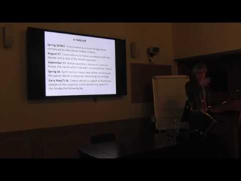 Dorothy Tarrant Lecture: Earthquakes, Etruscan Priests, and Roman Politics in the Age of Cicero