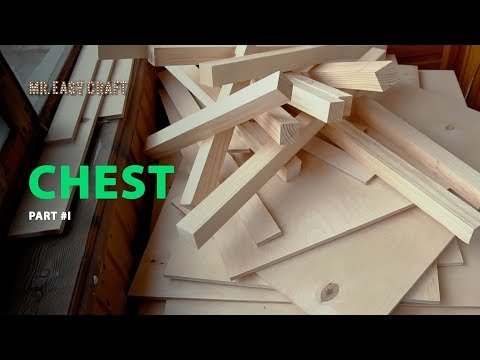 DIY CHEST \ large chest for dispenser \  wooden chest build part#1