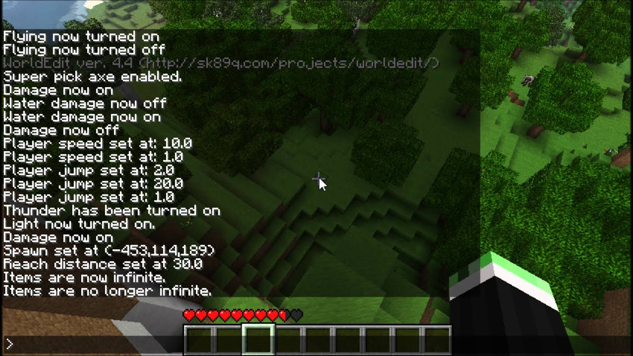 Minecraft Tutorial: Single Player Commands and WorldEdit - YouTube