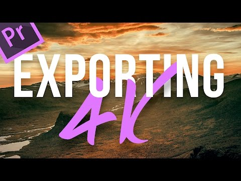 How to export 4k videos for youtube in Premiere Pro CC - 2 minute tuts