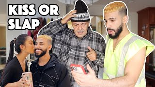 ARAB Dad REACTS To My KISS OR SLAP Challenge!!