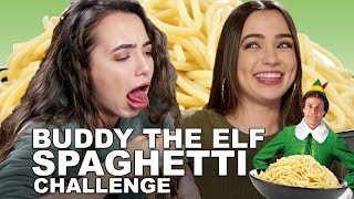Buddy The Elf Spaghetti Challenge - Merrell Twins - Christmas