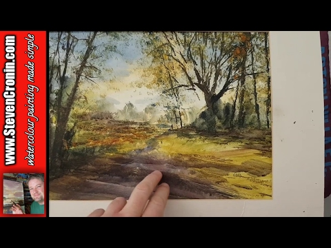 Comparing my Sutton Park watercolour painting to the photograph