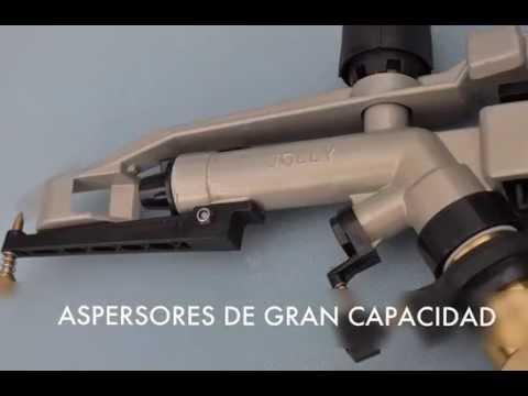 Riego por aspersión: Aspersores de gran capacidad y de cobertura total.