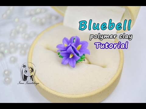 Ring Bellflower (Bluebell) ✿ Easy: Polymer clay Tutorial