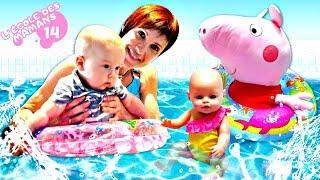 Vidéo en français pour enfants. Show Ecole des mamans № 14. Karl à la piscine