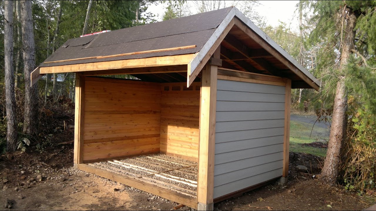 Firewood Storage Shelter : Instruction on building the ulimate wood shed in mins