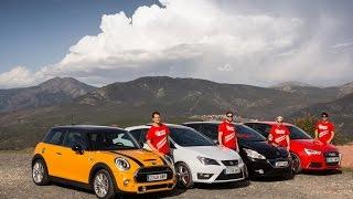 Comparativa Audi S1, SEAT Ibiza Cupra, MINI Cooper S y Peugeot 208 GTI - ActualidadMotor