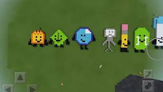 All Of My BFDI Contestants That I Bulit In Minecraft