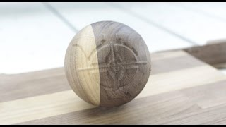 VOLTER 4020 CNC Router 3D Woodworking (ball carving from oak hardwood board)(, 2015-12-21T22:40:13.000Z)