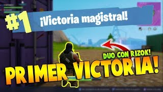 PRIMER VICTORIA EN FORTNITE! - 1 KILL WIN JAJA