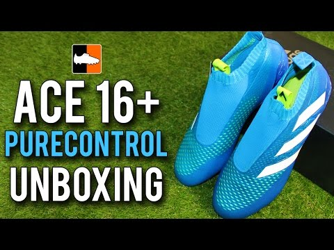 newest d17ad 14efa ACE16+ Purecontrol Unboxing  adidas Shock Blue Football Boots