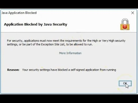 Java Fix : Applications Blocked by Security Settings for Windows 10 , 8, 7-  Solved