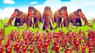 MAMMOTHS vs. 1000 SPEARS! (Totally Accurate Battle Simulator) TABS